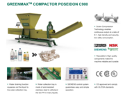 PET bottles dewatering machine of GREENMAX POSEIDON SERIES